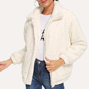 Jackets & Blazers - White Teddy Coat - Small
